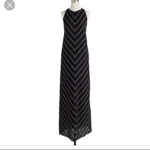 J Crew Chevron Maxi Dress Sz 4
